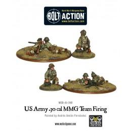 US Army Firing 30 Cal MMG Team