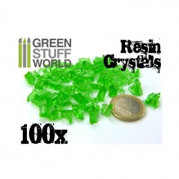 cristaux de résine VERTS x100