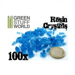 cristaux de résine BLEUS x100
