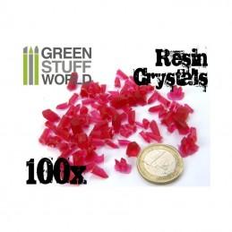 cristaux de résine ROUGE x100