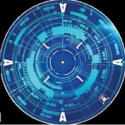 Gabarits 40K-V9 Bleus x6