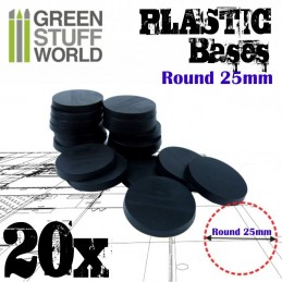 Socles Plastiques ROND 25mm...