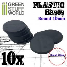 Socles Plastiques ROND 40...