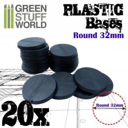 Socles Plastiques ROND 32mm...