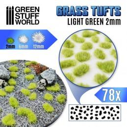 Touffes d'herbe 2mm Vert clair