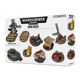 Boite SOCLES DE HEROS WARHAMMER 40000 X8