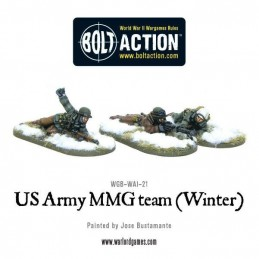 US Army MMG team (hiver) de face