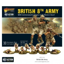Figurines et boite 8th Army Infantry