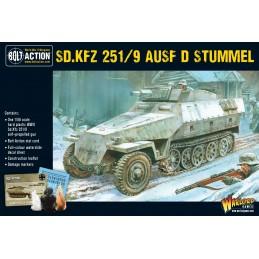 Boite Half track Sd.Kfz 251/9 Ausf D (Stummel)