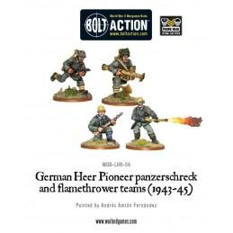 German Heer Pioneer, Panzerschrek/Flame de face