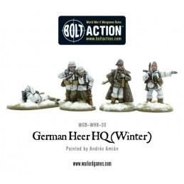 German Heer HQ (hiver) de face