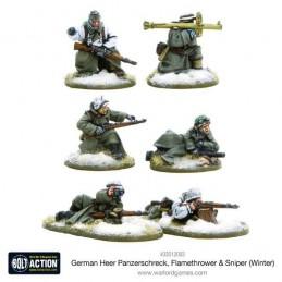 German Heer Panzerschreck, Flamethrower & Sniper teams (hiver)