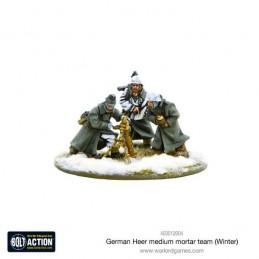German Heer Medium Mortar team (hiver) de face