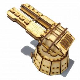 Plate-forme de défense Railgun montée