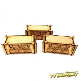 Conteneurs de stockage gothiques x3