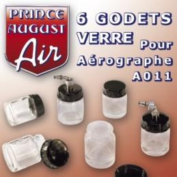6 godets verre pour aérographe A011