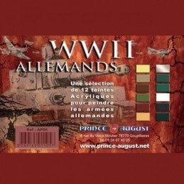 Boite Pack WWII Allemands 12 Teintes