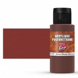 Pot et rendu Acrylique polyurethane Marron Rouge All RAL 8012