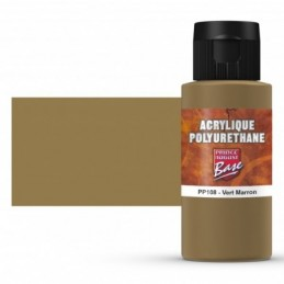 Pot et rendu Acrylique polyurethane Vert Marron RAL 8000