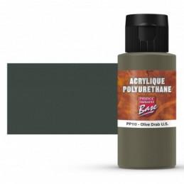 Pot et rendu Acrylique polyurethane Olive Drab U.S.