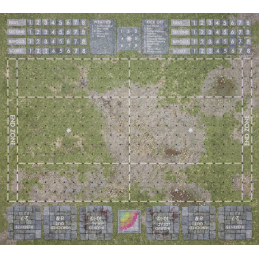 vue de face Tapis Blood Bowl: Terrain en herbe