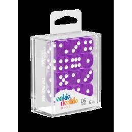 Boite Dés D6 16 mm Speckled - Violet (12)