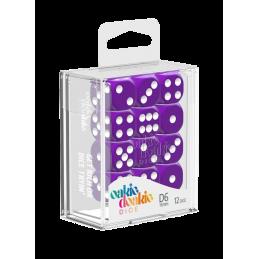 Boite Dés D6 16 mm Solid - Violet (12)