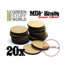 Socles ROND 32 mm en MDF (20)