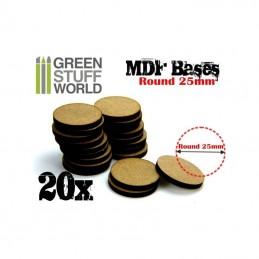 Socles ROND 25 mm en MDF (20)