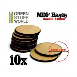 Socles ROND 40 mm en MDF (10)
