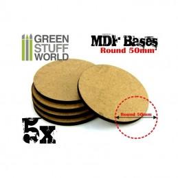 Socles ROND 50 mm en MDF (5)