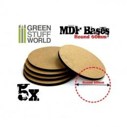 Socles ROND 60 mm en MDF (5)